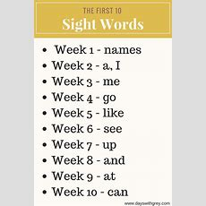 A Simple Way For Your Preschooler To Learn Sight Words — Days With Grey