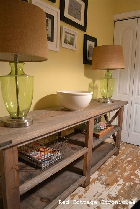 Collect the items that you are considering using on the table next to you. Hometalk   Rustic Buffet Table