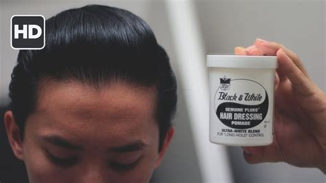 Black & White Hair Dressing Pomade Review -- Amazing For