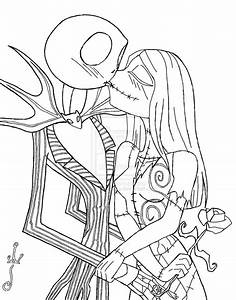 Jack and Sally Kisses by MizzSamantha on DeviantArt