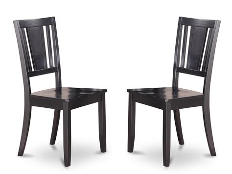 duc blk set of 2 dudley dining chair in black cherry