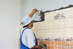 Carreler Sur Ancien Carrelage : comment poser un carrelage mural sur un ancien carrelage ~ Premium-room.com Idées de Décoration