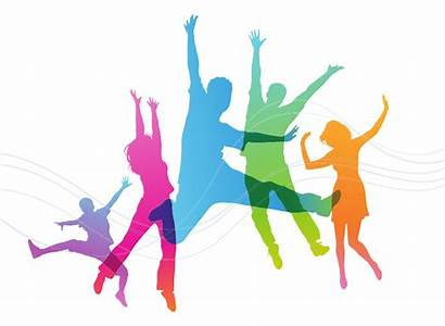 Joy Jumping Happy Activities Extracurricular Young Vector