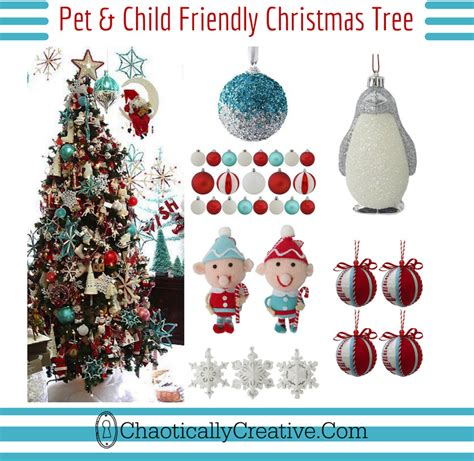 kid and pet friendly christmas tree chaotically creative