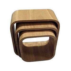 Cube Etagere Bois : lot 3 cubes gigognes arizona castorama ~ Teatrodelosmanantiales.com Idées de Décoration