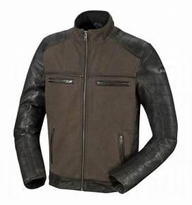 Blouson Moto Homme Textile : ixs blouson moto jimmy cuir et textile homme vintage t noir vert promo ~ Melissatoandfro.com Idées de Décoration
