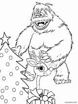 Snowman Abominable Coloring Pages Rudolph Bumble Drawing Printable Getdrawings Cool2bkids Results sketch template
