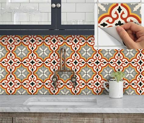 Awesome Tile Stickers Removable Vinyl Wallpaper Designs Solution For Renters by Tile Vinyl Decal Sticker For Kitchen Bath Stair Riser