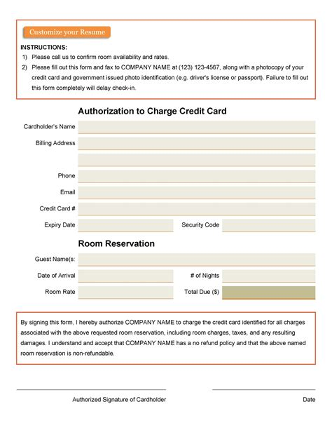 But, due to certain personal reasons, i no longer need the credit card. 43 Credit Card Authorization Forms Templates {Ready-to-Use}