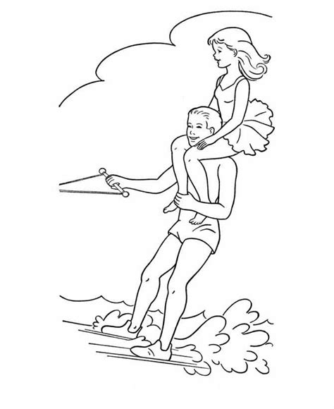 kids n fun com 9 coloring pages of water skiing