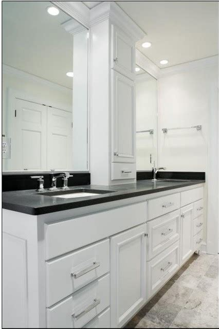 Bathroom Vanity Top Towers by Sink Vanity W Center Tower Contemporary
