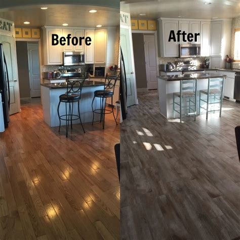 Restaining Hardwood Floors Toronto by Flooring Before And After Reveal Wood Looking Tile 365