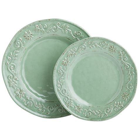 melamine dinnerware sets tuscan scroll melamine dinnerware green dinnerware gt dinnerware sets pinterest