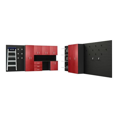 Garage Wall Systems by Flow Wall Modular Wall Mounted Garage Cabinet Storage Set