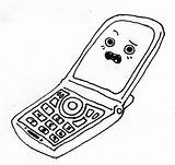 Coloring Phone Cell Pages Phones Printable Colouring Mobile Popular Coloringhome Library Clipart sketch template