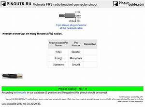 Motorola Frs Radio Headset Connector Pinout Diagram