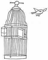 Cage Coloring Bird Pages Release Opening Ny sketch template