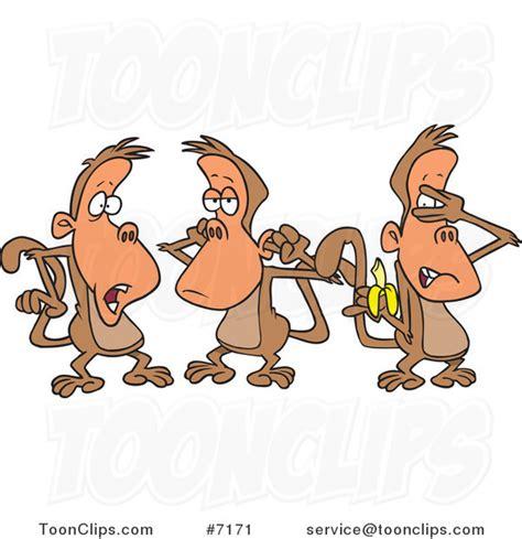 of three monkeys 7171 by leishman