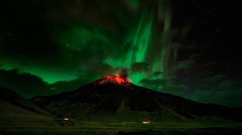 nature night landscape stars long exposure lava