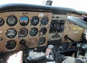An Analog Cockpit From A Cessna 172