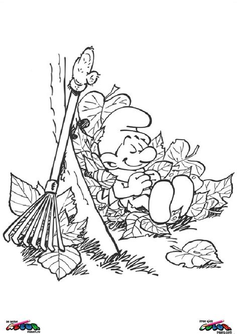 smurfs printable coloring pages