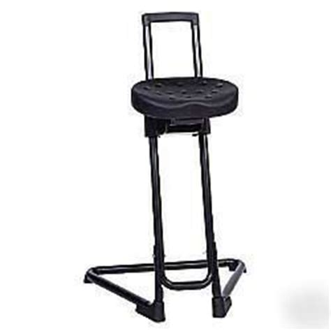 lyon ergonomic sit stand adjustable stool chair