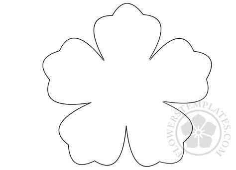 flower  petal template flowers templates