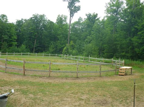 horse corral mounting block arena kraay beside brand