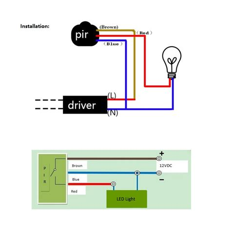 motion sensor light wiring diagram within for outdoor in pir and at volovets info