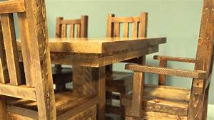 barnwood chairs viking log furniture youtube With chairs for barnwood table