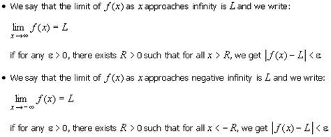 115 Limits At Infinity And Infinite Limits