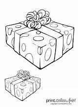 Gift Coloring Box Ribbon Pages Present Christmas Printable Holiday Fun Getcolorings Printcolorfun Tag sketch template