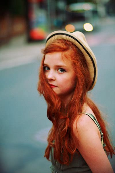 small cute redhead girl light hat fav images