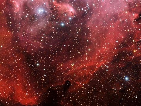 Millions Of Stars In A Red Sky