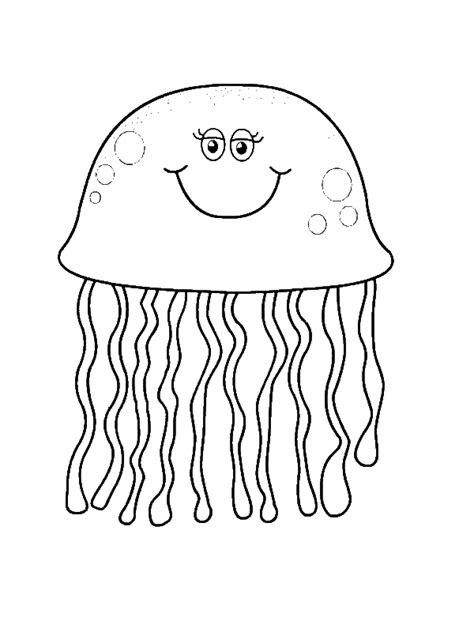 Coloring Jellyfish by Jellyfish Free Coloring Pages