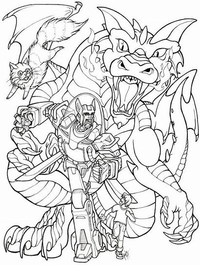 Rescue Bots Coloring Pages Chase Bumblebee Transformers
