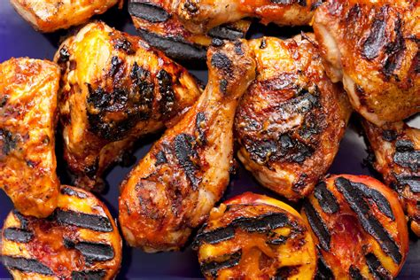 best recipes for the grill grilled chicken with nectarine bbq sauce recipe chowhound
