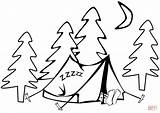 Tent Coloring Camping Pages Printable Sleeping Hiking Drawing Supercoloring Sc Print Version Template St Sketch Under sketch template