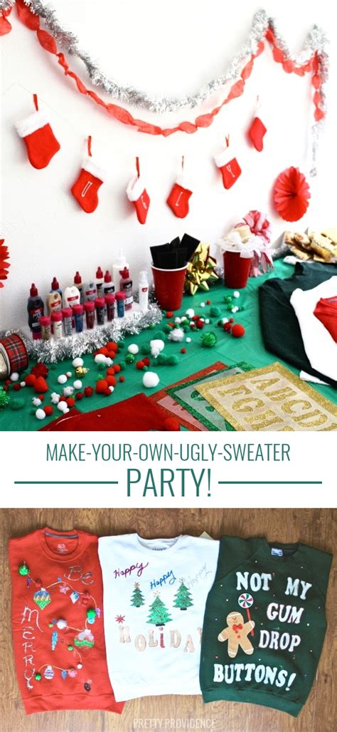 homemade ugly sweater party ideas pretty providence blog