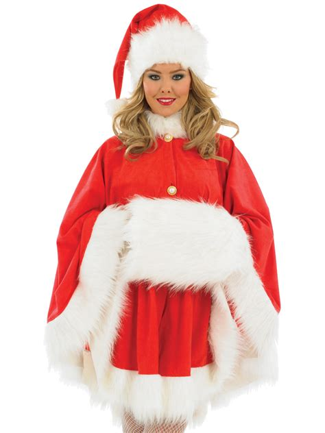 adult ladies santa cape costume fs3187 fancy dress ball