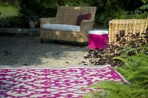 garten im quadrat outdoor teppich venedig ranken pink weiss With balkon teppich mit tapeten vlies modern