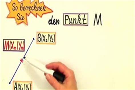 video mittelpunkt einer strecke berechnen  klappt es