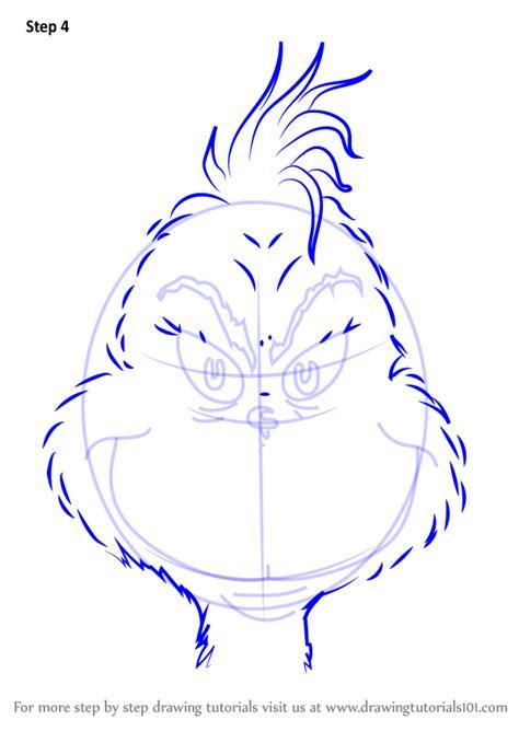 learn   draw  grinch face grinch step  step