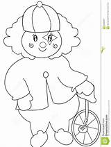 Unicycle Coloring Clown Template sketch template