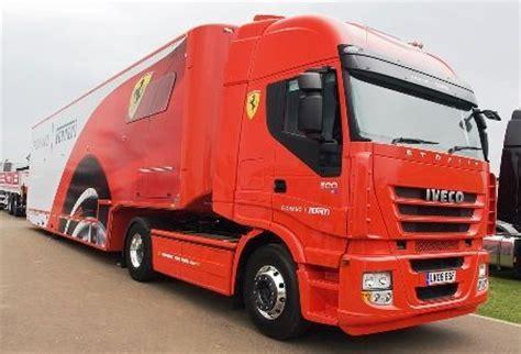 ferrari truck iveco truck ferrari f1 team camiões de transporte