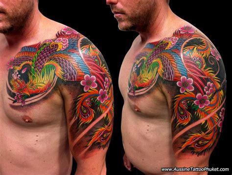 unique japanese phoenix tattoos