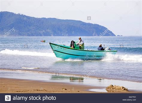 Buy Dory Boat by A Dory Boat Lands On The At High Speed In Pacific