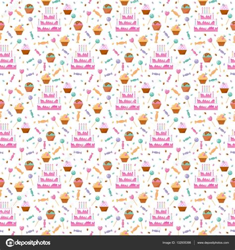 happy birthday seamless pattern vector stock vector