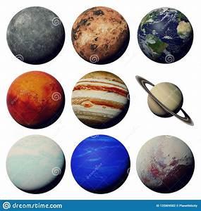 Los Planetas De La Sistema Solar Aislada En El Fondo Blanco 3d Espacian La Representaci U00f3n