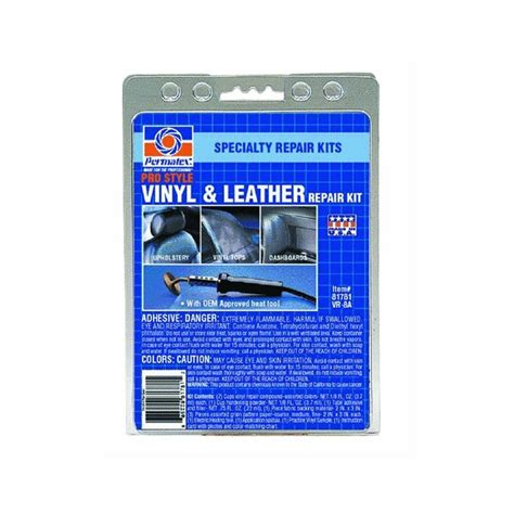 Leather Reconditioning by New Permatex 81781 Pro Style Vinyl And Leather Repair Kit